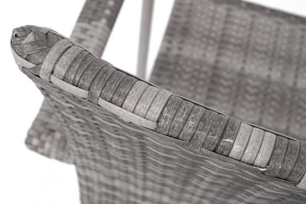 WYPRZEDAŻ - Krzesło ogrodowe z technorattanu MALAGA - szare
