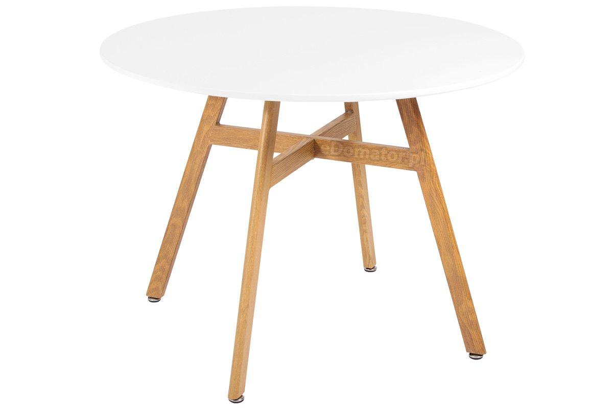 Modne ubrania Nowoczesny stół okrągły BOLONIA 100 - biały - duży wybór, niskie CY85