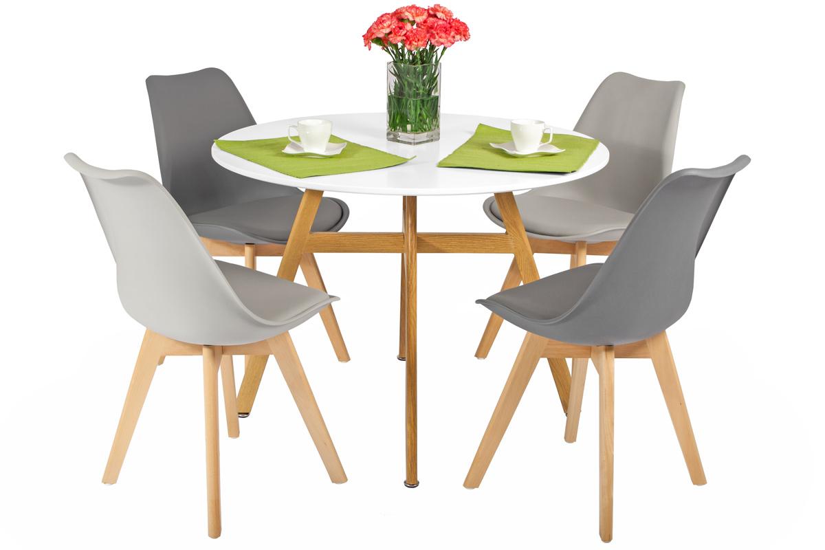 Wspaniały Zestaw mebli do jadalni BOLONIA stół okrągły i 4 krzesła - duży TP91