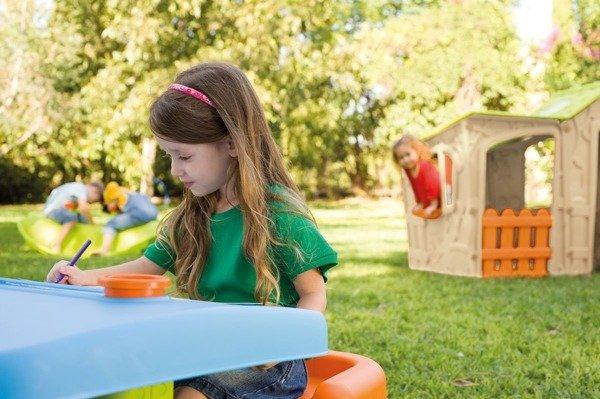 Duży domek dla dzieci Magic Villa House z przybudówką Keter