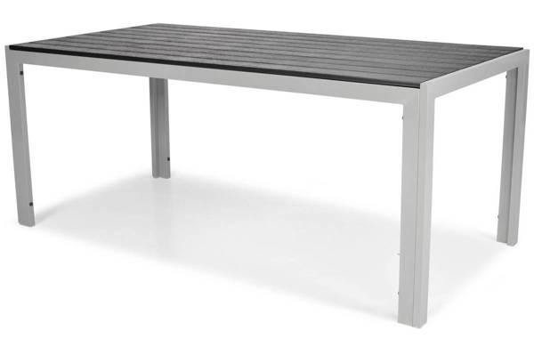 Duży stół ogrodowy dla 8 osób z aluminium MODENA 180 - Czarny