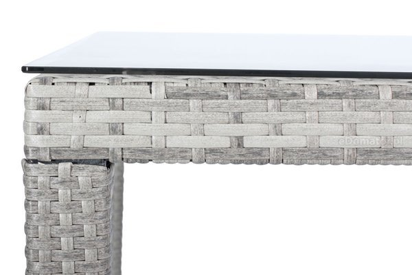 Duży zestaw mebli z technorattanu dla 8 osób MALAGA - Szare