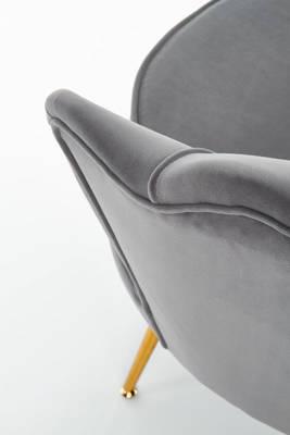Fotel tapicerowany Glamour MUSZLA AMORINITO - szary