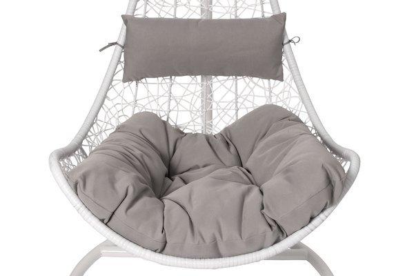 Fotel wiszący hamak kokon SOLANO - biały