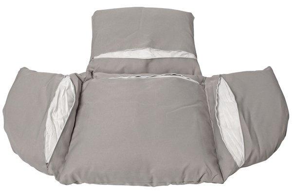 Fotel wiszący kosz kokon huśtawka BELLA - biały