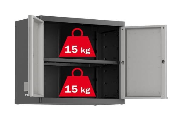 Garażowa szafka wisząca KETER KIS LOGICO Wall - szara