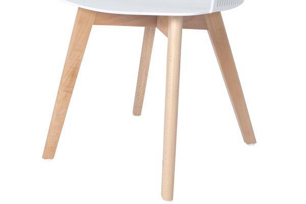 Głębokie stylowe krzesło fotel IMPERIA - białe
