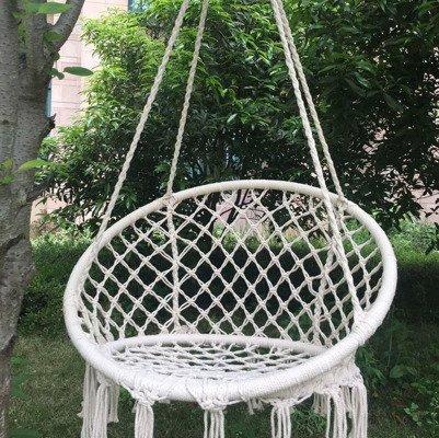 Huśtawka fotel BOCIANIE GNIAZDO z oparciem - ecru 80 cm XL