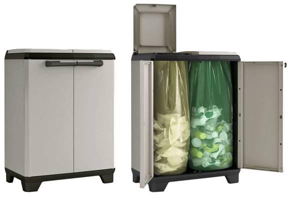 Komoda plastikowa z pojemnikiem na odpady KIS Planet Recycling