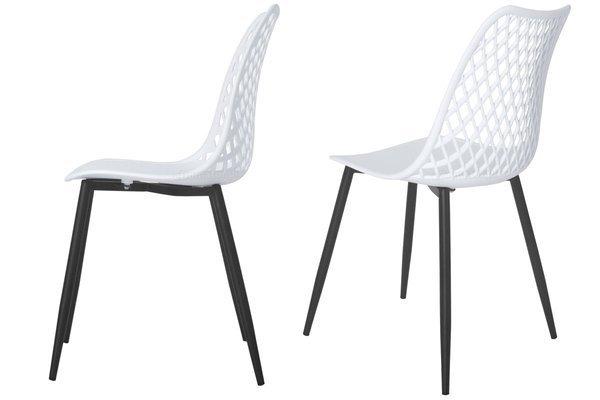 Krzesło ażurowe do jadalni SIENA - białe