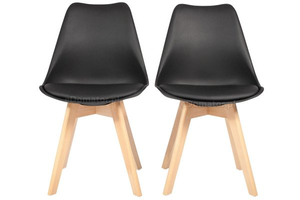 Krzesło do jadalni BOLONIA czarne - 4 szt.