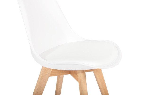 Krzesło do jadalni DSW DAW Eames BOLONIA - białe z poduszką
