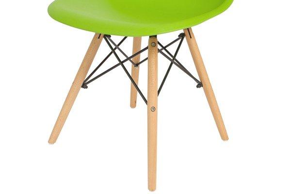 Krzesło do jadalni DSW DAW Eames MEDIOLAN - zielony