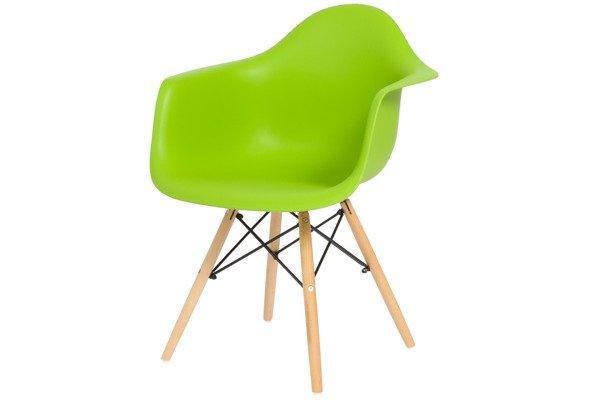 Krzesło do jadalni plastikowe FLORENCJA - zielony