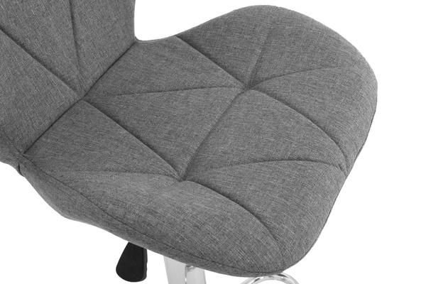 Krzesło hoker FINN 89-109 cm - szary
