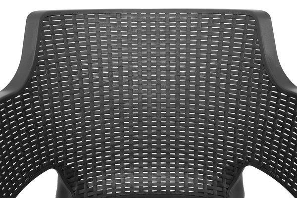 Krzesło ogrodowe EVA - grafitowe