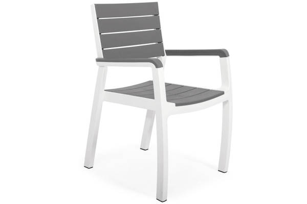 Krzesło ogrodowe fotelowe HARMONY - szare