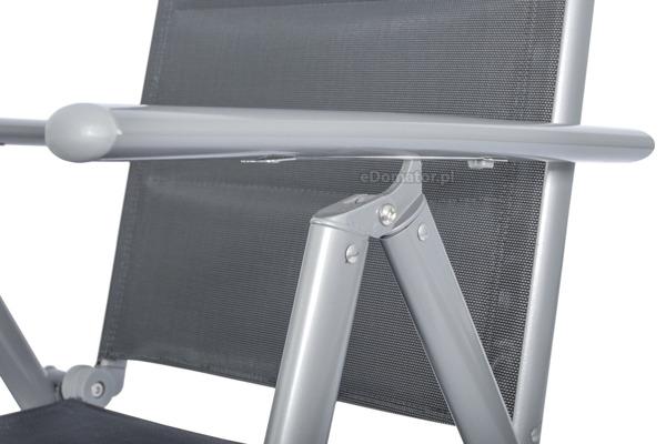 Krzesło ogrodowe składane aluminiowe WENECJA  - Srebrne