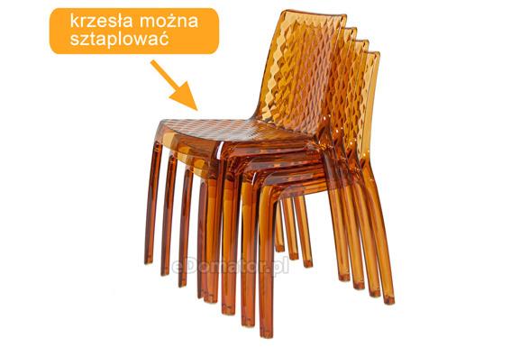 Krzesło plastikowe CARMEN - brązowe