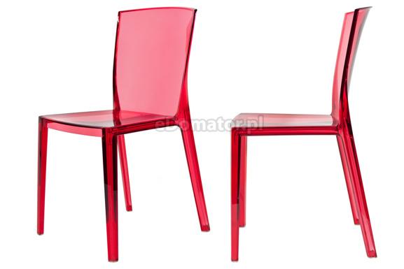 Krzesło plastikowe KING - czerwone