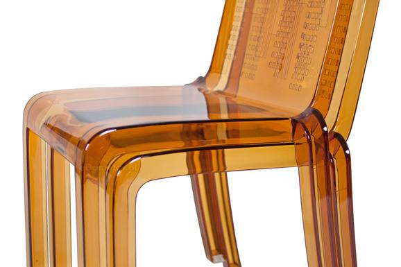 Krzesło plastikowe NEW YORK - brązowe