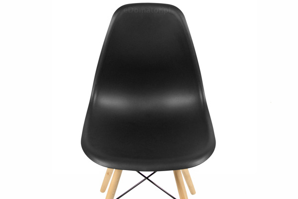 Krzesło plastikowe do jadalni MEDIOLAN - czarne