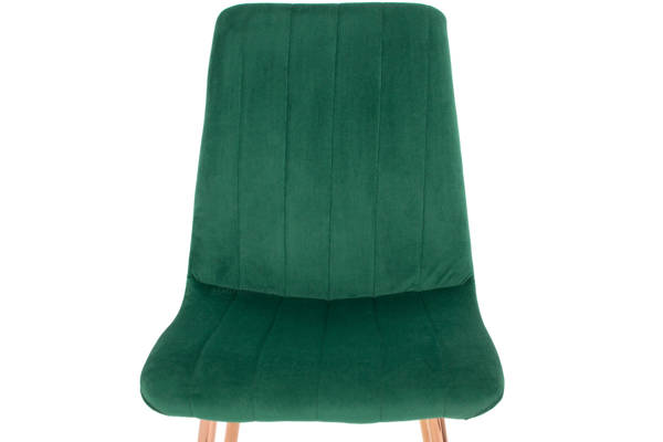 Krzesło welurowe SOFIA Gold - zieleń butelkowa