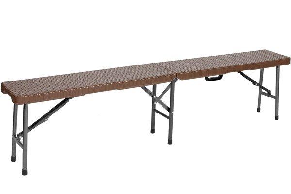 ŁAWKA CATERINGOWA Brązowa Składana dł. 180 cm