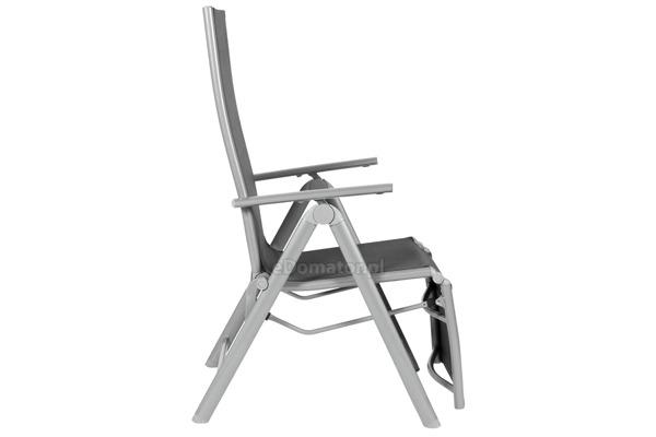 Leżak ogrodowy składany aluminiowy LAGUNA 7 pozycji z podnóżkiem