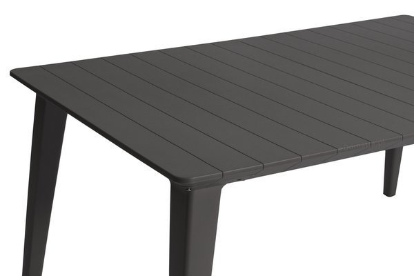Meble ogrodowe - 6 krzeseł AKOLA + stół LIMA grafitowo-białe