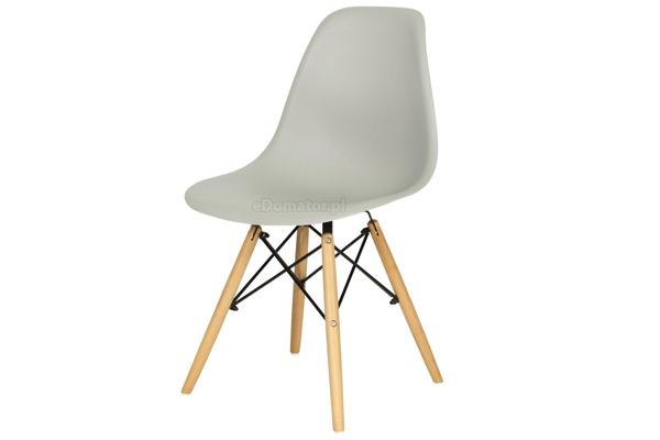 Nowoczesne szare krzesło MEDIOLAN - 4 szt.
