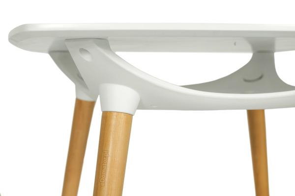 Nowoczesny kwadratowy stół MEDIOLAN 80x80 - biały