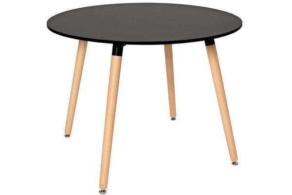 Nowoczesny stół okrągły MEDIOLAN 100 - czarny