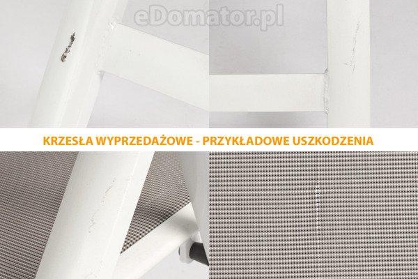 OUTLET - Krzesło ogrodowe VERONA VETRO - białe