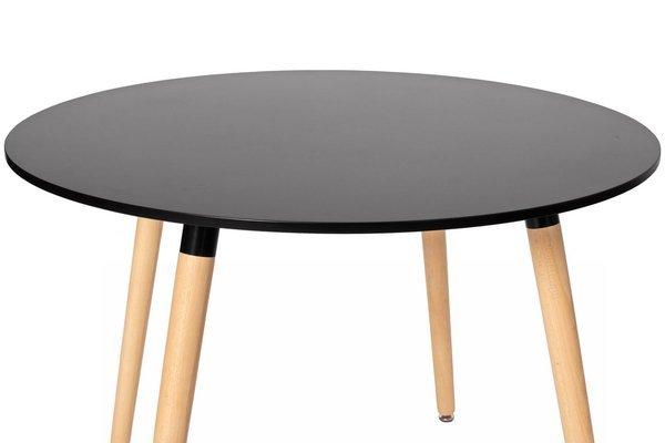 OUTLET - Nowoczesny stół okrągły MEDIOLAN 100 - czarny