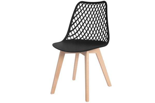 OUTLET - ażurowe krzesło NICEA - czarne