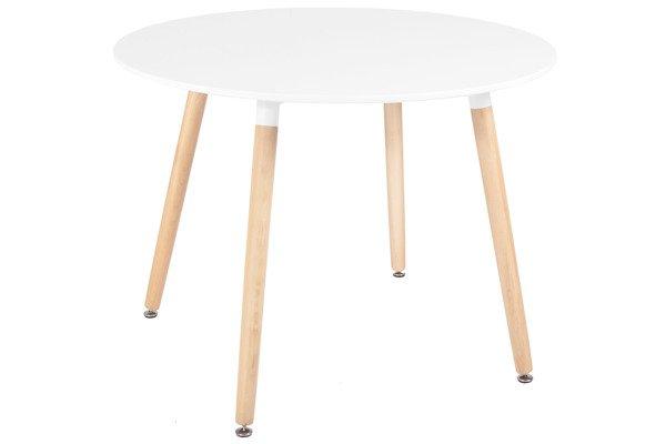 OUTLET - biały stół okrągły MEDIOLAN 100