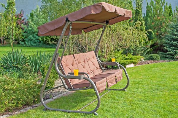 OUTLET - huśtawka ogrodowa SANDRA - brązowa