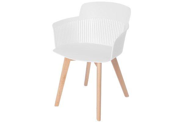 OUTLET - krzesło fotel IMPERIA - białe