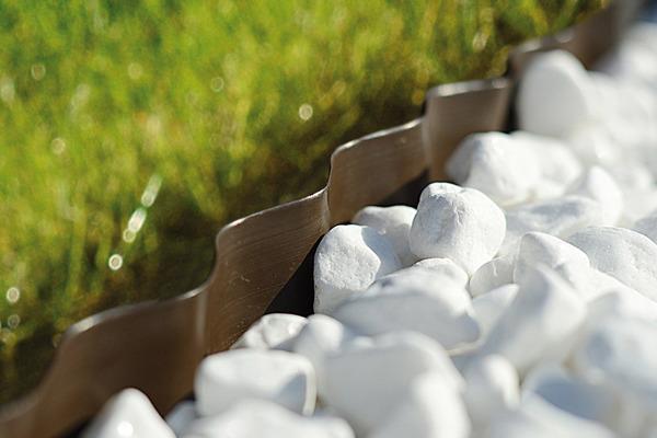 Obrzeże ogrodowe 20 cm x 9 m - brązowe