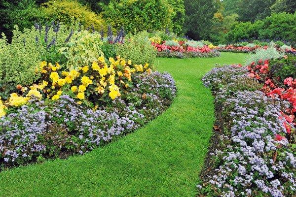 Obrzeże trawnikowe ogrodowe proste 15 cm x 9 m - brązowe