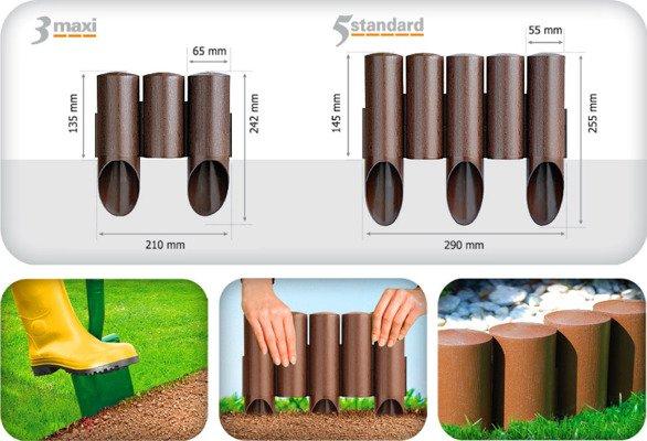 Palisada ogrodowa STANDARD 2,3 m - zielona