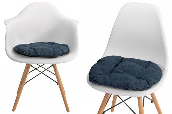 Poduszka na krzesło KAMILA 43 x 40 cm - granatowa