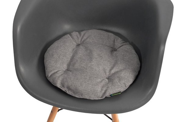Poduszka okrągła na krzesło OFELIA 36 cm - jasnoszara