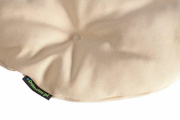 Poduszka okrągła na krzesło OFELIA 36 cm - kremowa