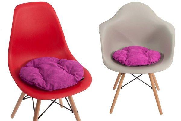 Poduszka okrągła na krzesło OFELIA 40 cm - fuksja