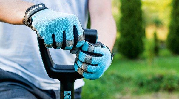 Rękawice ogrodowe rozmiar 9/L ERGO - niebieskie