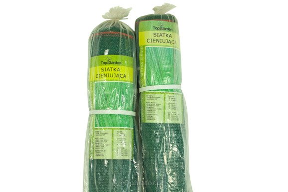 Siatka cieniująca 1,25x25m 100 g/m2 60% UV Zielona