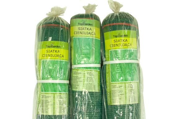 Siatka cieniująca 1,25x50m 95% 170g/m2  UV Zielona