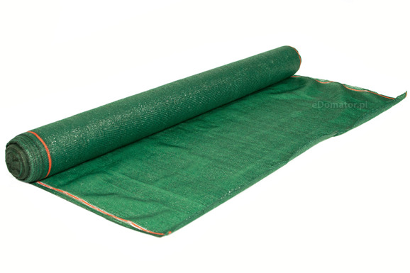 Siatka cieniująca 1,5x25m 100 g/m2 60% UV Zielona